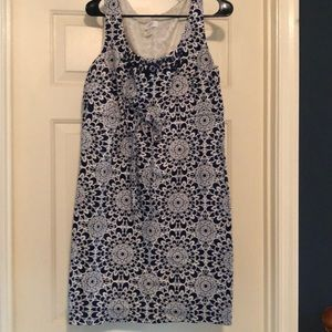 LOFT navy & white dress size 10